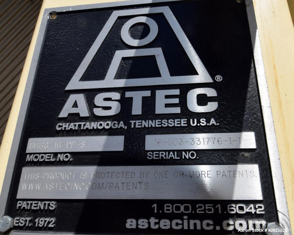 Used- Astec Hot Baghouse, Model BH-68-16-PP-S