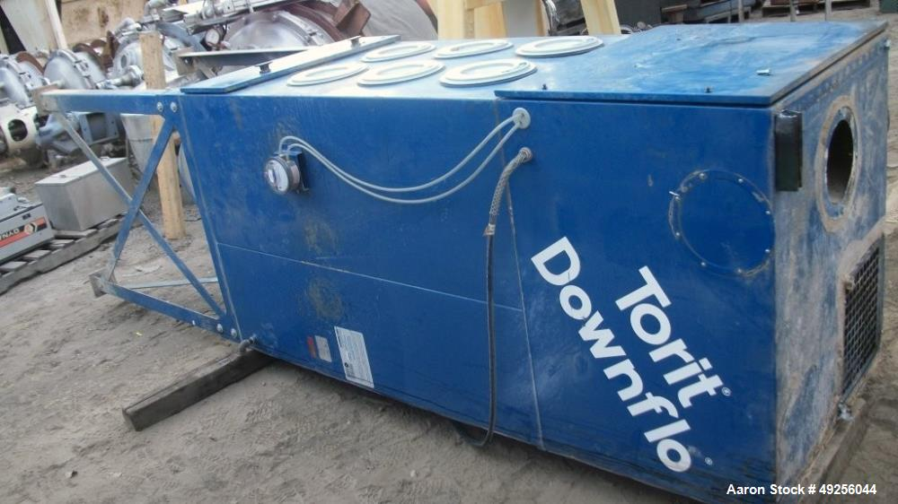 Used- Torit Donaldson SDF 6 OD Downflow Portable Dust Collector - 1,200 CFM, holds (6) cartridge filters. Total Filter Media...