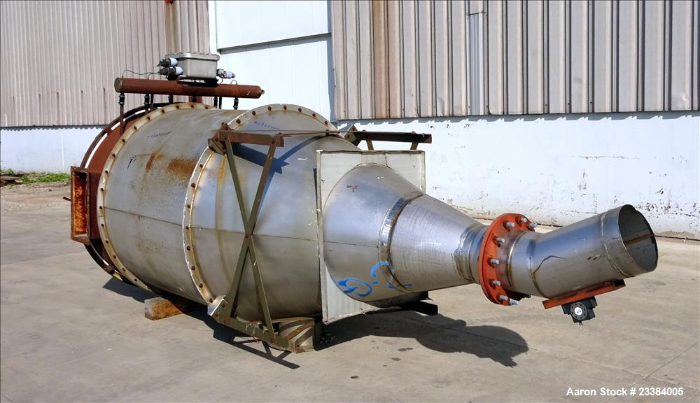 Used- Mac Pulse Jet Dust Collector, 304 Stainless Steel, Model 39RTC32