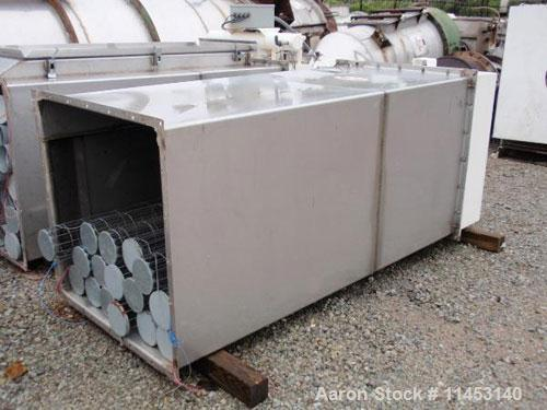 """Used-138 Square Foot MAC Dust Collector, model 72AVS16-2. Stainless steel construction, (16) 5.5"""" diameter x 6' long bags, p..."""