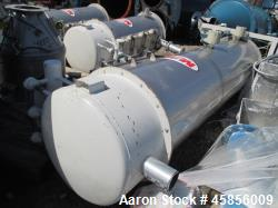 "Used- MAC Dust Collector, Approximately 1404 Square Feet, Model 39AVRC7-STY3, Stainless Steel. (7) 39"" Long pleated bags, pu..."