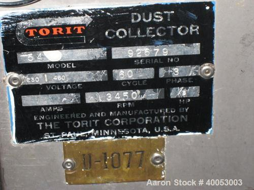 Used- Torit Bag Type Dust Collector, Model 54