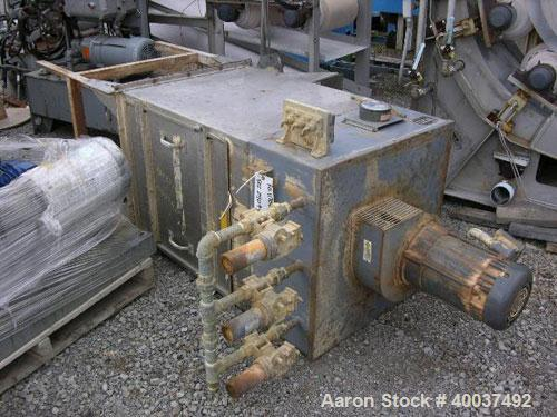 """Used- Torit Cartridge Type Pulse Jet Dust Collector, Model TD486ODBH, stainless steel. Housing 28"""" x 28"""" x 32"""" tall x 13"""" to..."""