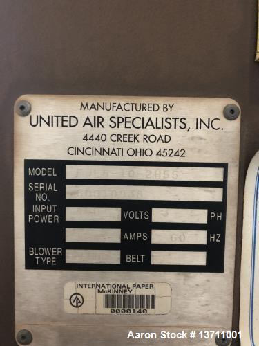 Used- United Air Specialists Dust Hog Dust Collector