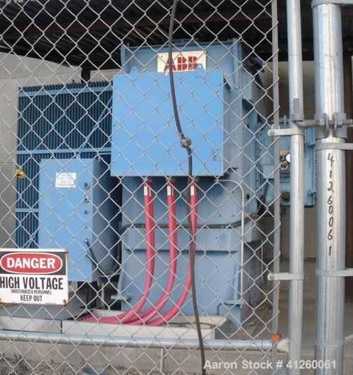 Used- Asea Brown Boveri Transformer, oil filled 1