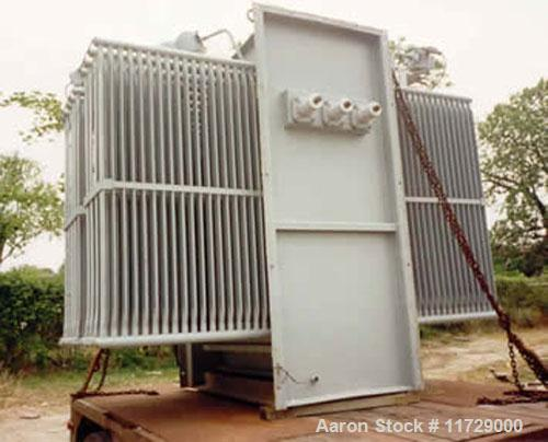 Used-2500/3500 KVA General Electric Transformer, class OA/FA, 3 phase, 60 hertz. High voltage 13,200 delta, low voltage 480Y...