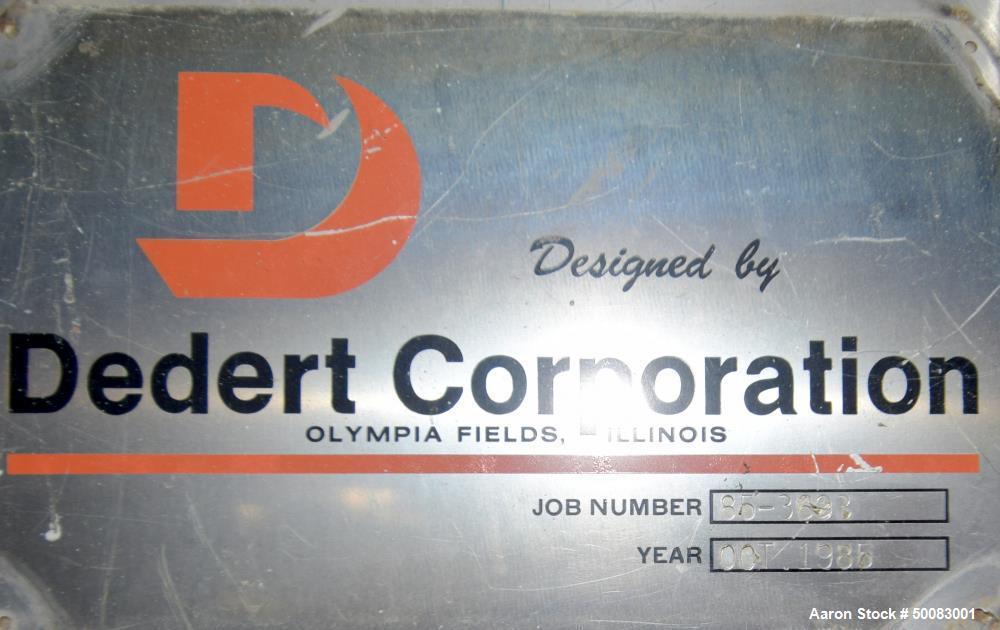 Used- Dedert Single Effect Evaporator
