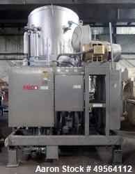 MECO Vapor Compression Still, Model PES1000MSSH. Nominally rated 1000 gph. 75 hp blower. Skid mount...