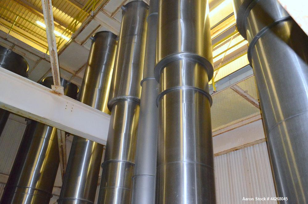 Used- Stainless Steel Wiegand 7 Effect Evaporator
