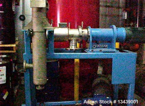 Unused- Artisan Rototherm Horizontal Thin Film Evaporator. 1 square foot heat transfer area. Internal diameter 6-1/4 inches....