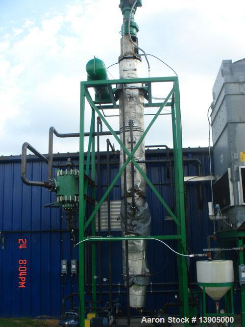 Used-Buss-SMS Model LN-0500 Thin Film Evaporator System consisting of 53.8 square foot TFE with product wetted parts of 316L...
