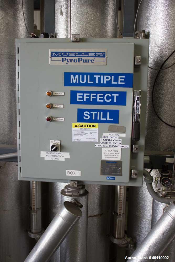 Used- Paul Mueller Mulitple Effect Still / MES. Model P630-6
