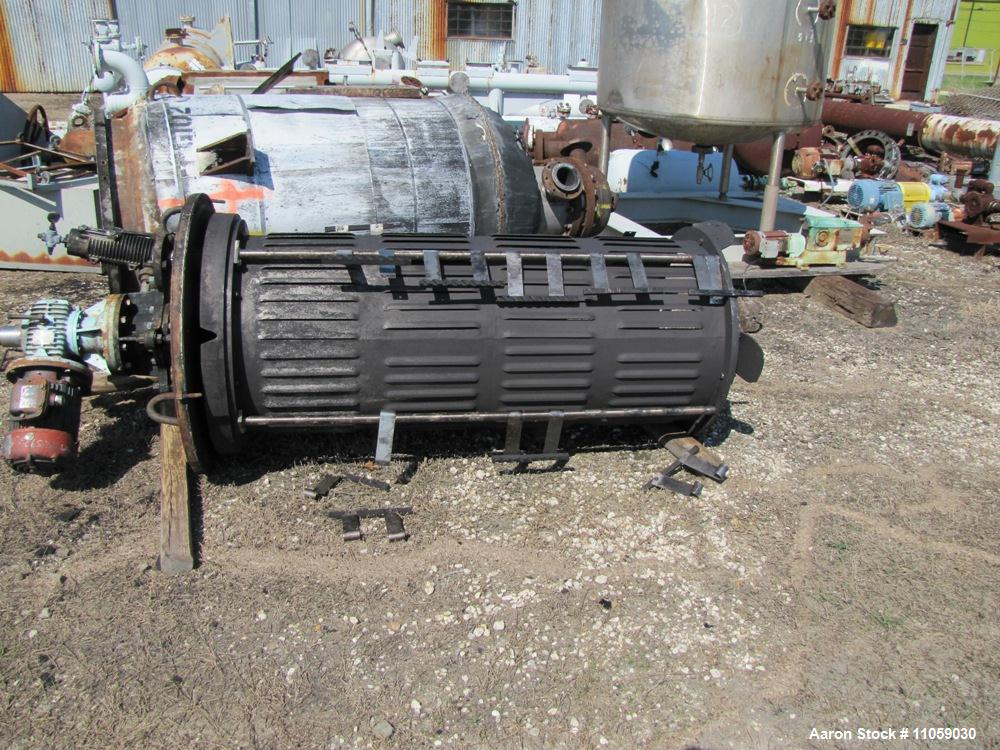 "Used-Pfaudler Model 50-36L-WFE-160S Wiped Film Evaporator, 50 square feet, 36"" diameter.  Contact parts are 316L stainless s..."