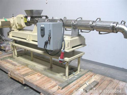 """Used-Bonnot 4"""" single screw extruder, model 4""""SS/TWN PKR. Stainless steel contact parts. Equipped with twin packer dual agit..."""