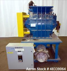 "Used- Clyde Bergemann Rotary Airlock Feeder, Model 18"" XL, Carbon Steel."