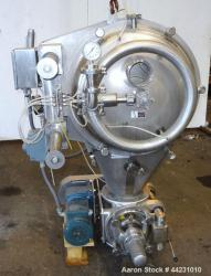 Used- Stainless Steel HAF Equipment Moovinator Side Load Powder Receiver, Model