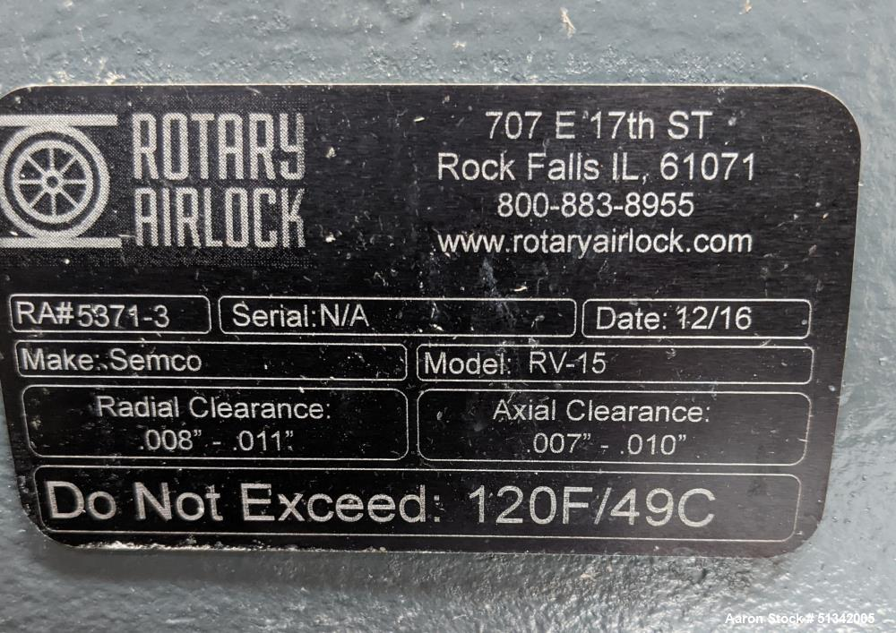 Semco Model RV-15 Rotary Airlock