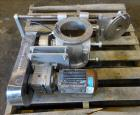 Used- Nu-Con Equipment Rotary Valve, Model DT375DEMU, Stainless Steel. Approximate 0.176 Cubic feet per revolution. 7-1/2