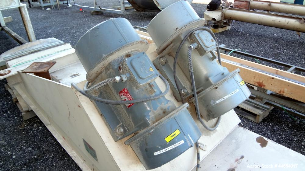 Used- Carbon Steel Carman Industries Adjust-A-Flow Vibrating Feeder, Model BF36H