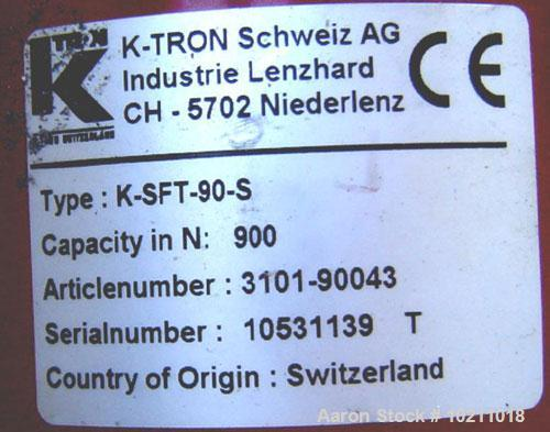 "Used-K-Tron Loss In Weight Twin Screw Feeder, Kw-NL-T35. 1"" diameter twin concave profile screws. Stainless steel material c..."