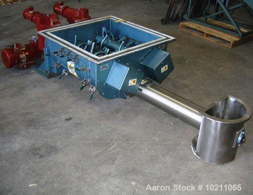 "Used-7"" Acrison Bin Unloader and Screw Feeder, Model 403-30000-4500-BDF-3-1-S.  Stainless steel screw and tube. 7"" diameter ..."