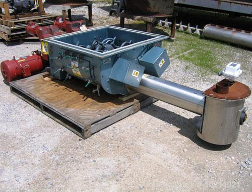 "Used-8"" Acrison Bin Unloader and Screw Feeder, Model 403-40000-6500-BDF-3-1-T.  Stainless steel screw and tube. 8"" diameter ..."