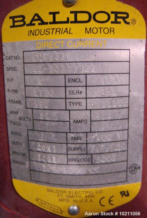 Used-Acrison Weigh Feeder, Stainless Steel Contact Parts and Screw, Model GP403-300-100-101-DD. Drive is a Baldor direct cur...