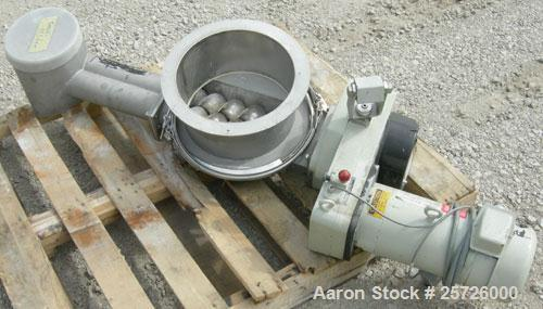 """Used- K-Tron screw type modular loss in weight feeder, model K-MLT80, 304 stainless steel. Approximately 3"""" diameter twin sc..."""