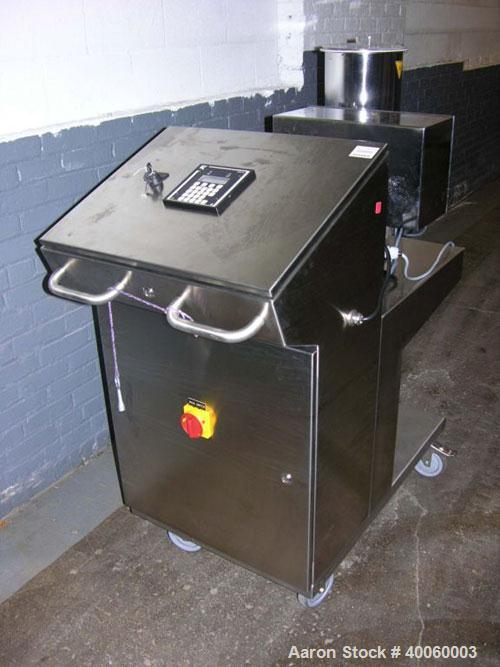 Used: K-Tron gravametric feeder, model K-PH-CC-KT20,stainless steel construction, twin screw design with .17cu.ft. agitated ...