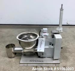 Used- KTron / Coperion Twin Screw Volumetric Feeder, Stainless Steel, with Top mounted feed funnel.