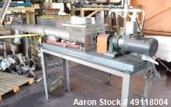 Used- MetalFab Volumetric Screw Feeder, Model DB2-6, 304 Stainless Steel. Approximate maximum feed rate 500 cubic feet per h...