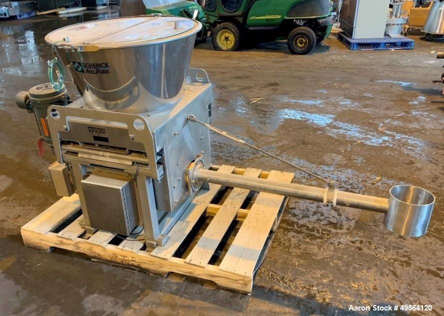 "Used- Schenck Volumetric Feeder, Model MODMC-IG-1AX. Stainless steel construction. 2"" Diameter x 34"" long auger. Serial# 650..."