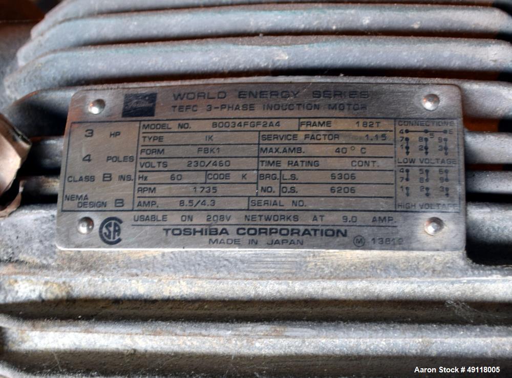 Used- Vibra Screw 304 Stainless Steel Screw Feeder.