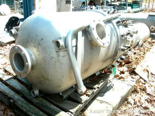 "Used-Used: Filterite cartridge filter, model 162MS03C-316L-6FD-C150, stainless steel. 32"" x 36"" straight side dished bolt on..."
