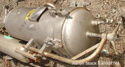 "Used- Filterite Basket Filter, 316 stainless steel construction, type 54MS03-316-3FD-C150, 12"" diameter x 30"" deep tank, rat..."