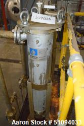 "Used- Shelco Bag Filter Housing, Model BFS-2SB-2F, Stainless Steel. Approximate 8"" diameter x 36"" straight side. Internal ra..."