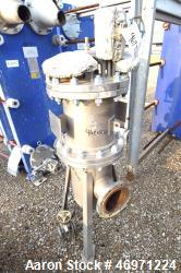 Used- Parker Hannifin Sterile Steam Filter, Model HIS03JGF01, 316L Stainless Steel. Approximate 20 gallon capacity, rated 16...