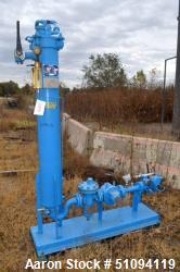 "Used- Velcon Filter Skid, Model VX-3, Carbon Steel. Approximate 8"" diameter x 60"" straight side, internal rated 250 psi at -..."