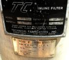 Used- Technical Fabricators inline filter, model I/0 500-2, 316 stainless steel. Jacketed chamber 12