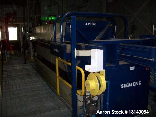 Unused- Siemens Model-1200G32-59-75SYLC, Polypropylene Plate and Frame Press. Unit has 60 1200mm x 1.25 inch polypropylene, ...