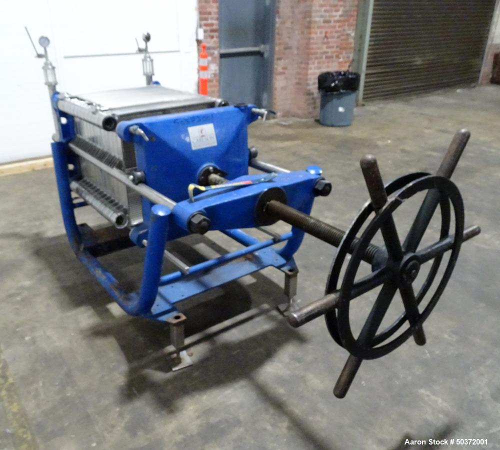 Used- Carlson Filtration Stainless Steel Filter Press