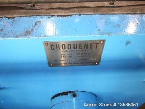 """Used-Choquenet HP 800 Filter Press.  Maximum capacity for cake thickness 2"""" (50 mm), 28.8 cubic feet (818 liters).  Comprise..."""
