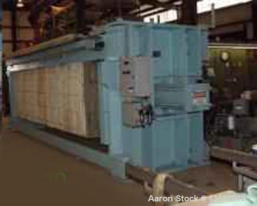 Unused-Used: Eimco Shriver Filter Press used approx. 125 cu. ft. (63) 1500MM Recessed Polypro Plates. 1.25 in. cake thicknes...