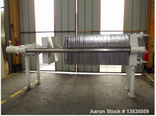 """Used-G Diefenbach 800.800 Filter Press.  45 Trays 31"""" x 31"""" (800 x 800 mm), surface 452 square feet, maximum volume 105 gall..."""