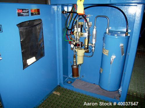 "USED: JWI filter press, model 800G32-16/24-8/12DA. (18) 31 1/2"" X 31 1/2"" X 1/2"" recess polypropylene plates.Approximate fil..."