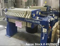 Used- Pacific Press Unloading Filter Press, Model P4E135A-2.38
