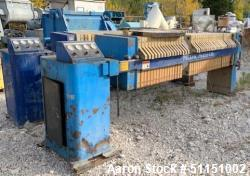 Used- Pacific Press Co. Filter Press, Model P630E132A-10R