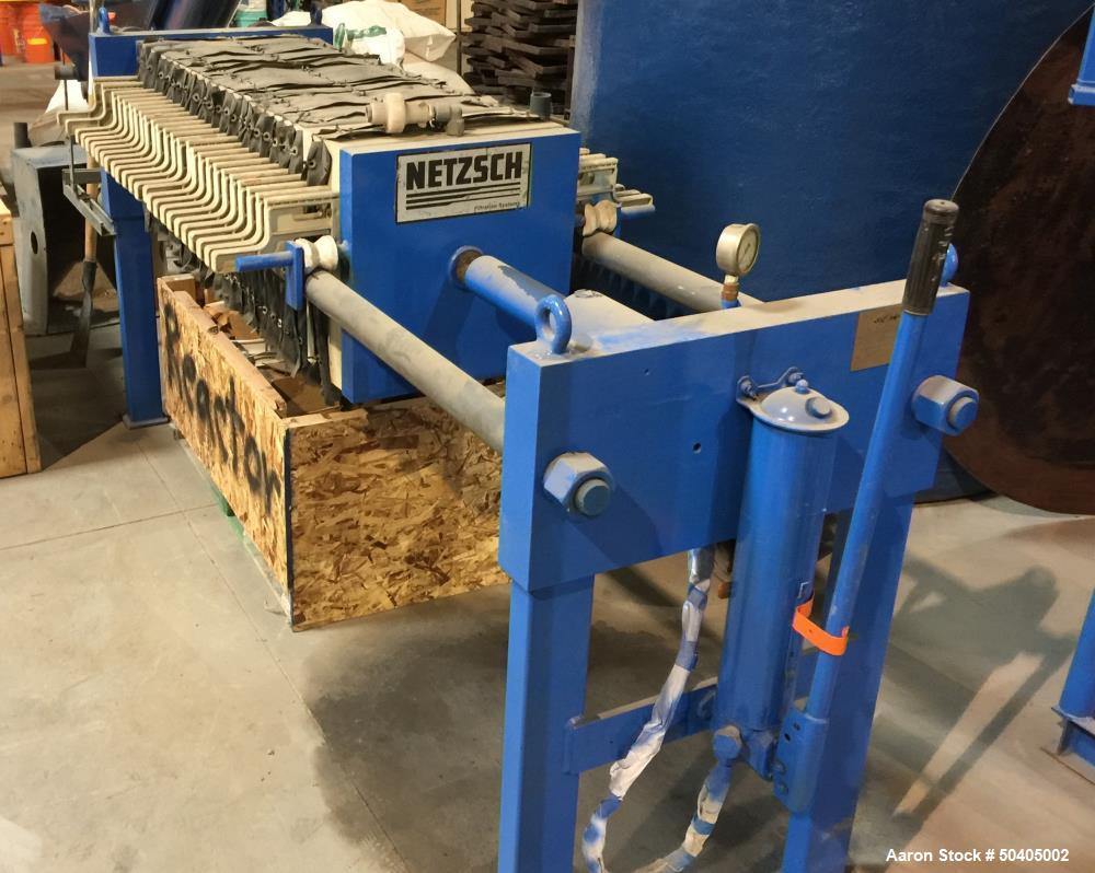 """Used- Netzsch Filter Press, Model 470 II, Approximate 83.50 square feet, 3.10 cubic feet cake capacity. (24) 18.5""""(470mm) x ..."""