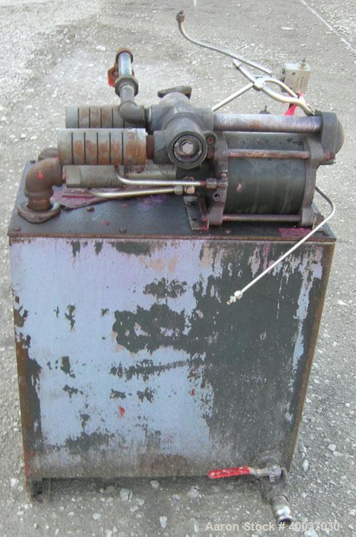"""Used- Filter Press, 48"""" x 48"""". (20) 2 1/2'' thick polypropylene plates, 1/2'' recess. (1) head, missing tail plate. 4 corner..."""