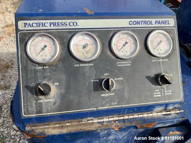 Used- Pacific Press Co. Filter Press, Model P630E132A-12R